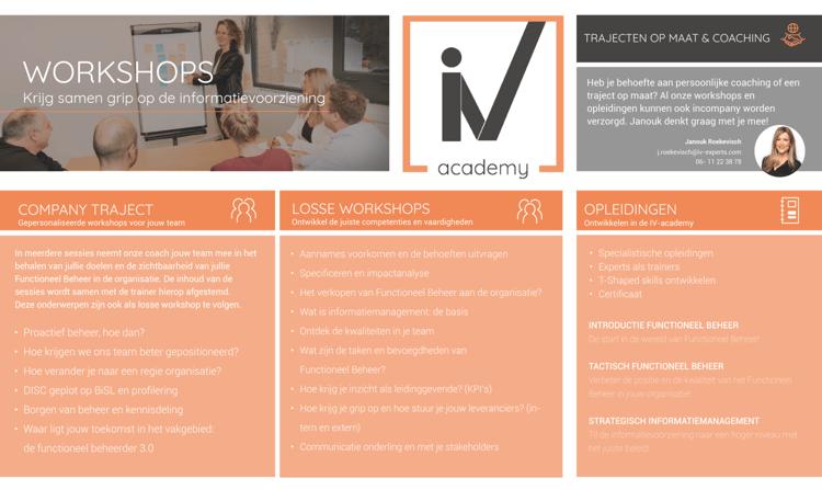 menukaart - workshops coaching